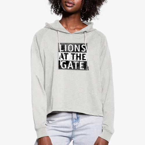 LIONS AT THE GATE BAND LOGO - Vrouwen Cropped Hoodie