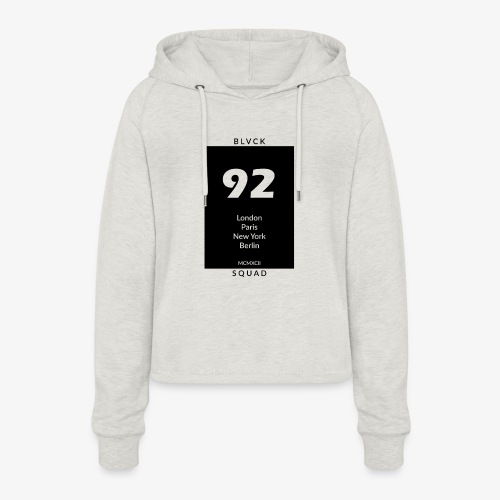BLVCK SQUAD - Frauen Cropped Hoodie