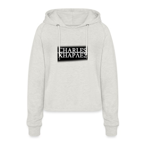CHARLES CHARLES BLACK AND WHITE - Women's Cropped Hoodie