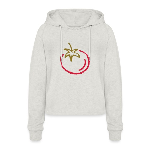 tomato 1000points - Women's Cropped Hoodie