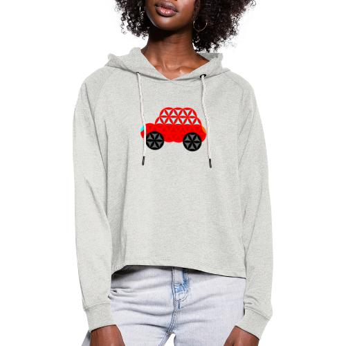 The Car Of Life - M01, Sacred Shapes, Red/R01. - Women's Cropped Hoodie