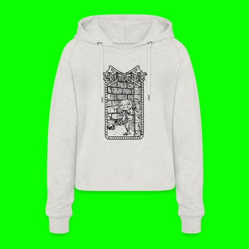 Return to the Dungeon - Women's Cropped Hoodie