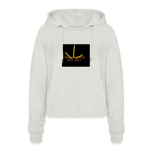 TheAnimator935 Logo - Women's Cropped Hoodie