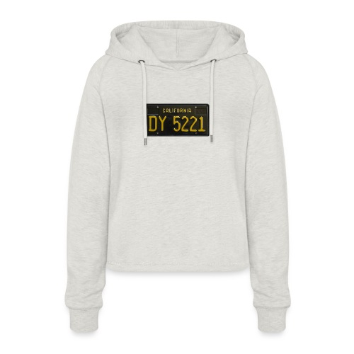 CALIFORNIA BLACK LICENCE PLATE - Women's Cropped Hoodie