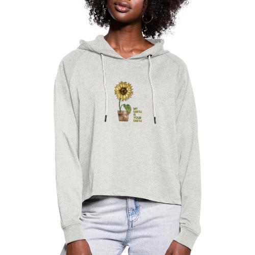 My earth is your earth - Frauen Cropped Hoodie
