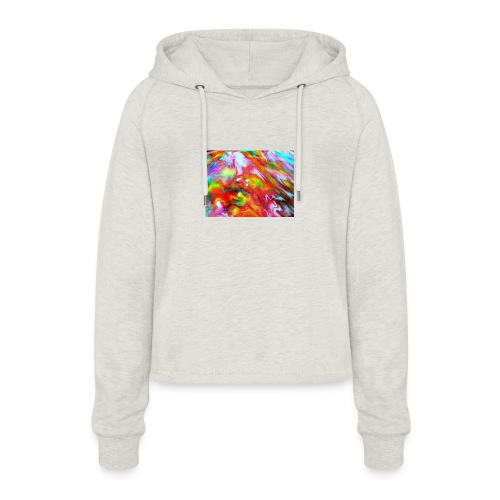 abstract 1 - Women's Cropped Hoodie