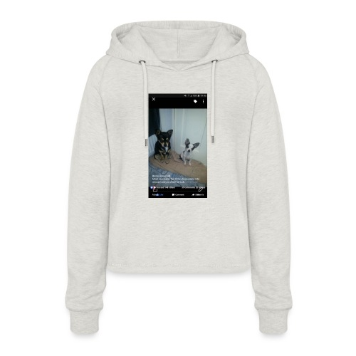 Dogs - Women's Cropped Hoodie