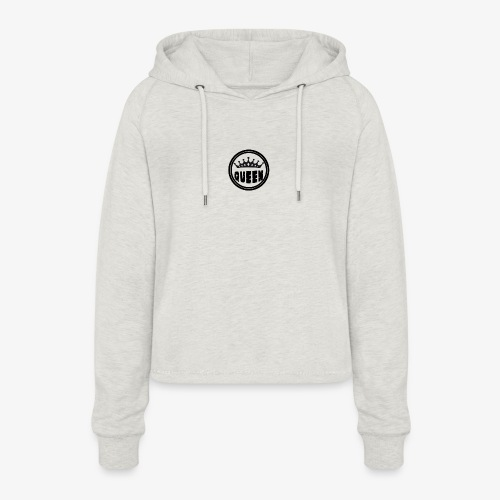 Queen Brustlogo - Frauen Cropped Hoodie