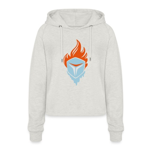 Fire and Ice 3C - Frauen Cropped Hoodie