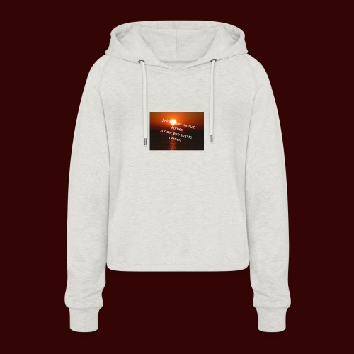 quote1 - Vrouwen Cropped Hoodie
