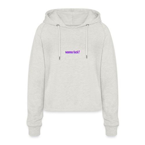 Want some fun? - Frauen Cropped Hoodie