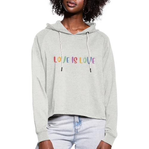 LOVEI is LOVE - Sudadera cropped con capucha