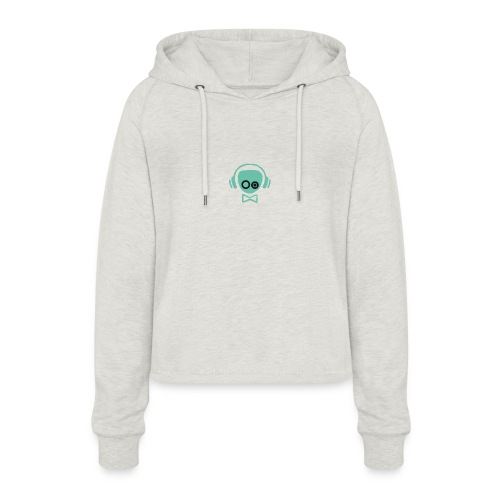 Gamer Design - Cropped hoodie til damer