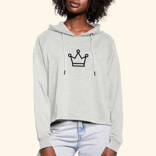 The Queen - Cropped hoodie til damer