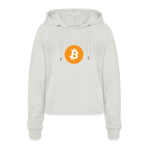 Bitcoin - Vrouwen Cropped Hoodie