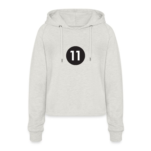 11 ball - Women's Cropped Hoodie