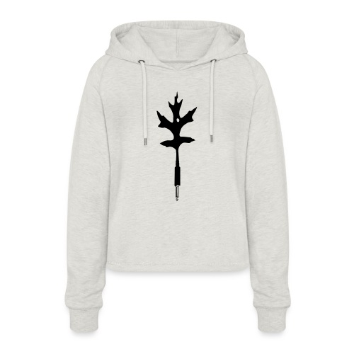 naturally connected - Frauen Cropped Hoodie