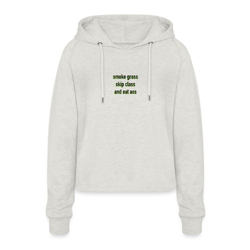 Smoke and eat - Frauen Cropped Hoodie