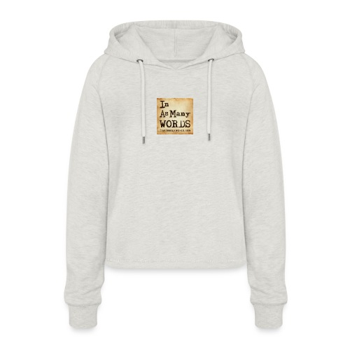 I AM Words LOGO_Brown - Women's Cropped Hoodie