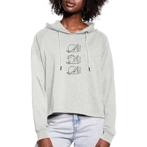 3 Cats - Frauen Cropped Hoodie
