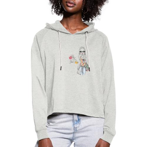 good day - Women's Cropped Hoodie