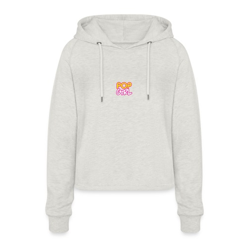 Pop Girl logo - Women's Cropped Hoodie