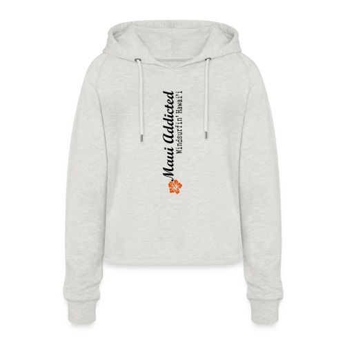 MAddLogoVert ai - Women's Cropped Hoodie