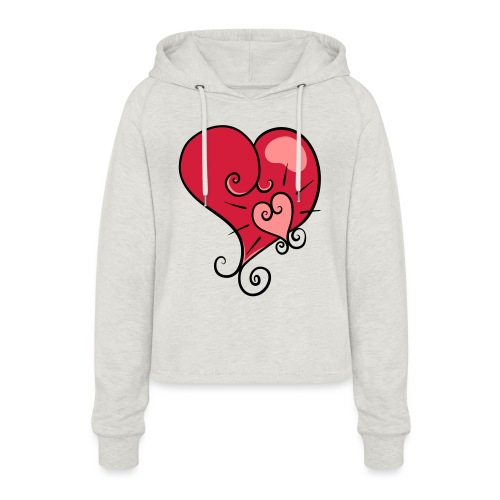 The world's most important. - Women's Cropped Hoodie