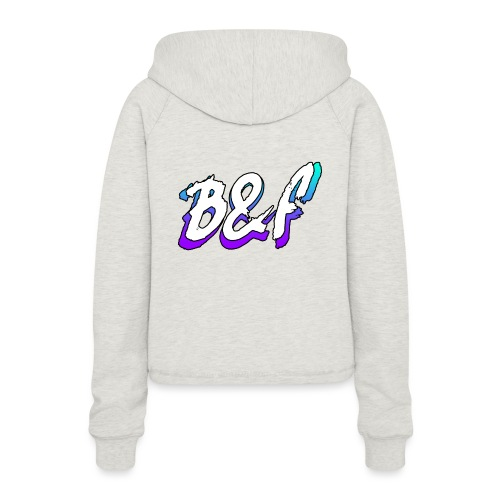 Purple and Blue Fade - Women's Cropped Hoodie