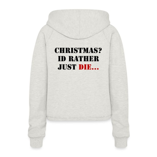 Christmas joy - Women's Cropped Hoodie
