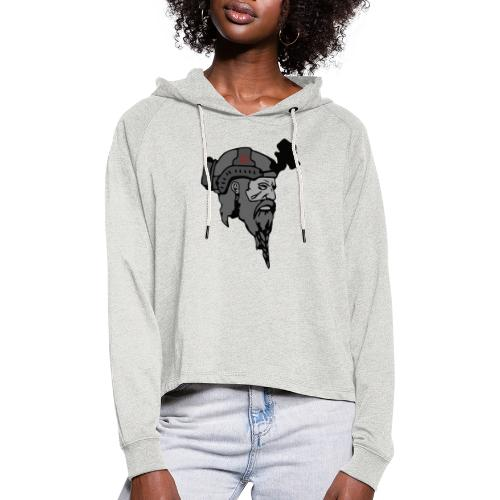 Logo and text SOW - Cropped hoodie til damer
