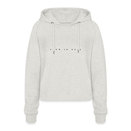 Snow in Hell White - Frauen Cropped Hoodie