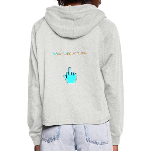 Middle finger - Sudadera cropped con capucha
