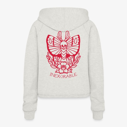 Traditional Tattoo Moth - Women's Cropped Hoodie