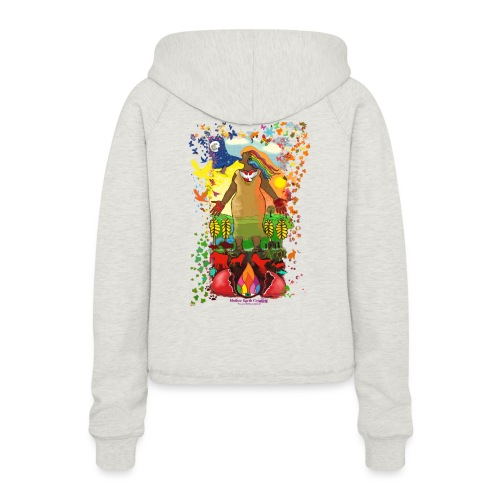 Mother Earth Creating - Vrouwen Cropped Hoodie
