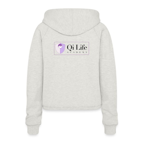Qi Life Academy Promo Gear - Women's Cropped Hoodie