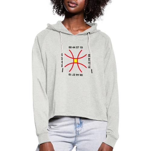 TIAN GREEN - Anti Corona Symbol - Frauen Cropped Hoodie