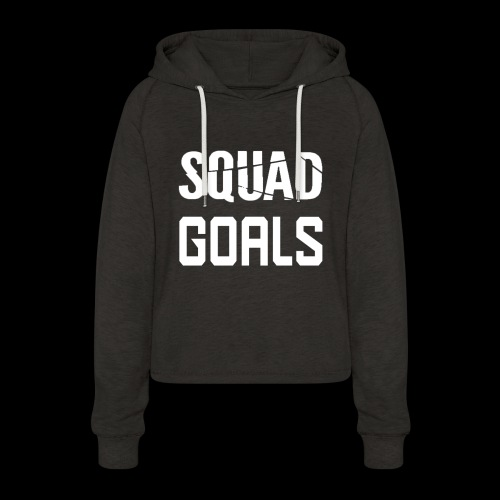 squad goals - Vrouwen Cropped Hoodie