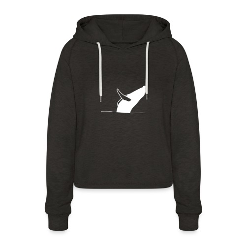 Jumping whale - white - Frauen Cropped Hoodie
