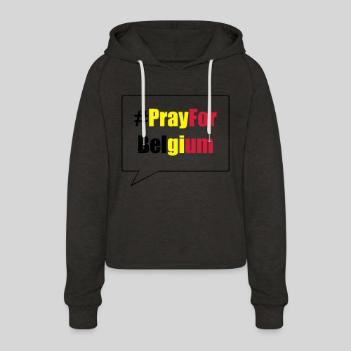 #PrayForBelgium - Sweat à capuche court Femme