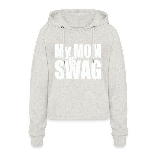 Swag White - Vrouwen Cropped Hoodie