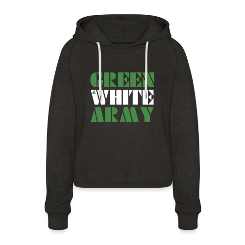 GREEN & WHITE ARMY - Women's Cropped Hoodie