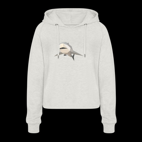 SHARK COLLECTION - Felpa con cappuccio da donna: taglio cropped
