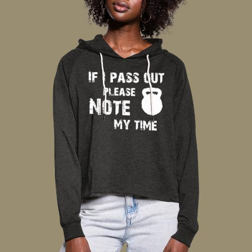 shirtsbydep passout - Vrouwen Cropped Hoodie