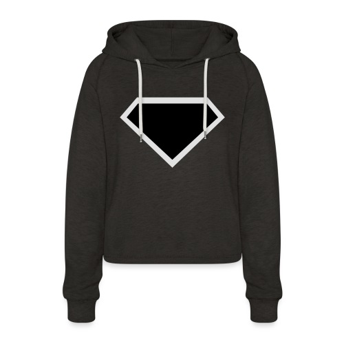 Diamond Black - Two colors customizable - Vrouwen Cropped Hoodie