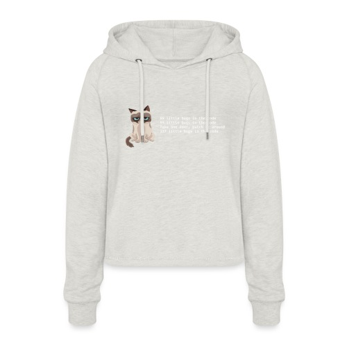 99bugs - white - Vrouwen Cropped Hoodie