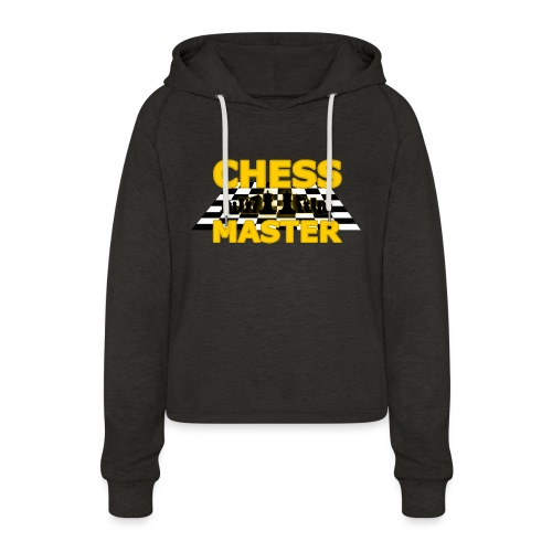 Chess Master - Black Version - By SBDesigns - Women's Cropped Hoodie
