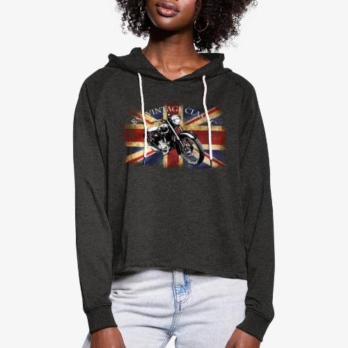 Vintage famous Brittish BSA motorcycle icon - Women's Cropped Hoodie