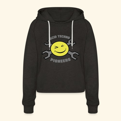 ACID TECHNO PIONEERS - SILVER EDITION - Women's Cropped Hoodie