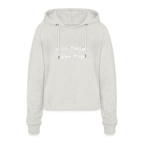 QUOTES - Women's Cropped Hoodie